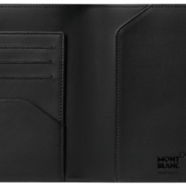 Montblanc 123953 portapassaporto in pelle nero