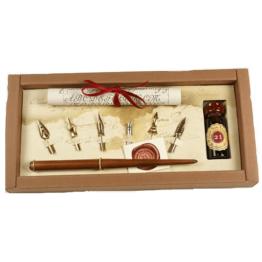 Stilografica in legno Rubinato canotto inchiostro rosso