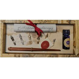 Stilografica in legno Rubinato canotto inchiostro viola